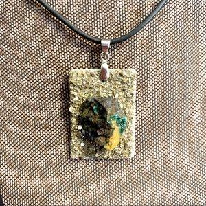 African Handmade Raw Jasper pendant Necklace